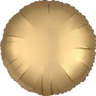 """Шар 18"""" фольгированный без рисунка круг сатин золотой 3204-0051, фото 1"""